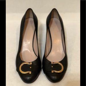 Salvatore Ferragamo Black leather heels size 8 1/2